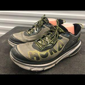 Hoka One Bondi 4 Men's Gray/Lime Sneakers Size 14